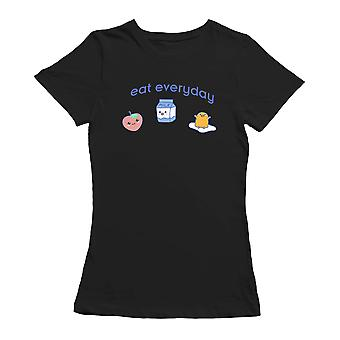 Kawaii Eat Everyday Lunch Graphic Women's T-shirt