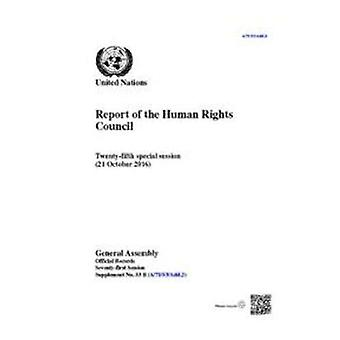 Relazione del Consiglio dei diritti umani - venticinquesima sessione speciale (21