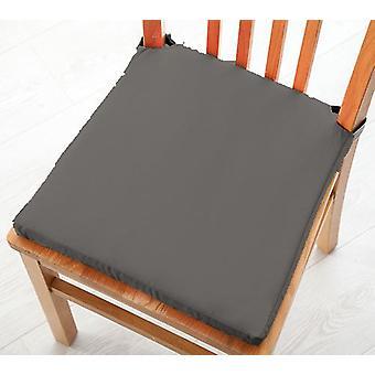 Graue Baumwolle Twill Essstuhl Sitzpad Kissen, Packung mit 1