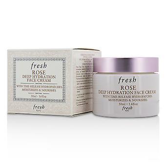 Creme facial de hidratação profunda rosa normal para secar tipos de pele 212044 50ml / 1.6oz