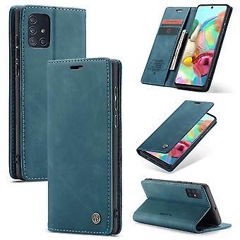 Retro Wallet Smart for Samsung A71 Blue