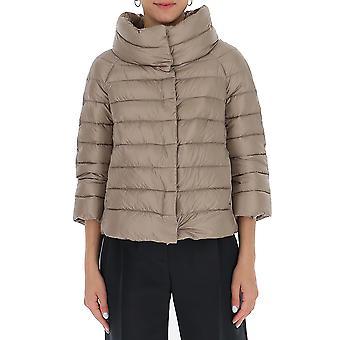 Herno Pi0046dic120172600 Women's Beige Nylon Outerwear Jacket