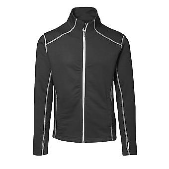 ID Mens Full Zip Fitted Sweatshirt With Contrast Trim