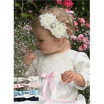 Christening Gown With Short Sleeve And Fee Choice Of Color Of Bow, Grace Of Sweden Ma.la