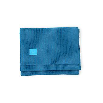 Akne Studios D4002tealblue Naiset's Blue Wool Huivi