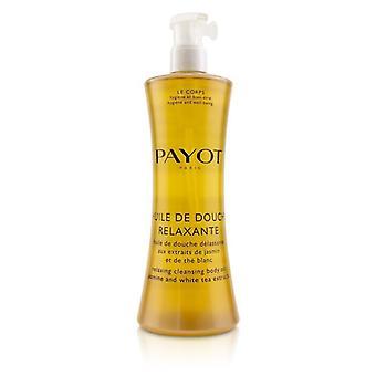 Payot Huile De Douche Relaxante rilassante corpo olio con Jasmine & bianco detergente 400ml/13.5 oz gli estratti del tè