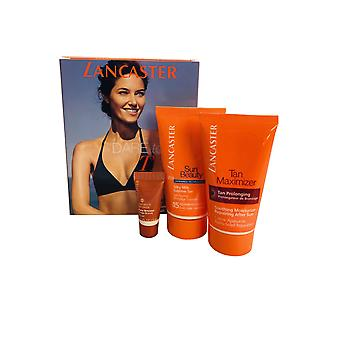 Lancaster Tan Dare To Tan Set- Sublime Tan SPF15 50ml After Sun 50ml and Face Bronzer 3ml