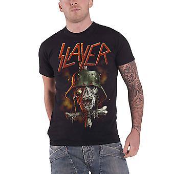 Slayer T Shirt Soldier Cross 2014 Tour Dates logo new Official Mens Black