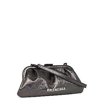 Balenciaga 6188951ty1w1000 Women's Silver Leather Clutch