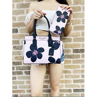 Kate spade cameron street medium satchel grand flora serendipity + large wallet