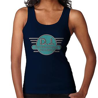 DJ International Records Cyan Logo Women's Vest