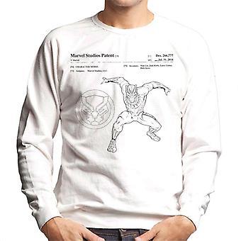 Bewundern Sie Black Panther Patent sprungbereiten Herren Sweatshirt