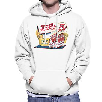 Pepsi Cola Bigger Better Bottles Men's Hooded Sweatshirt