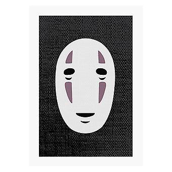 Ingen Ansiktsmask Studio Ghibli spirited bort A4 Print