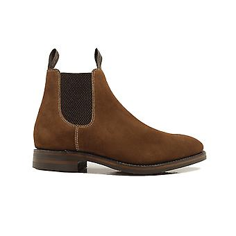 Loake Chatsworth Brown Suede Leather Mens Chelsea Boots