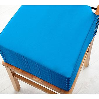 Turquoise 6pk Seat Pad Cushions with Secure Fastening Dining Kitchen Chairs Soft Cotton Twill