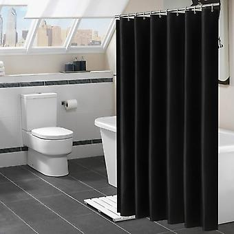 Modern Waterproof Large Black Shower Curtains For Bathroom