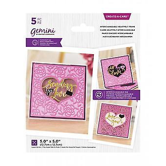 Gemini Interchangeable Heartfelt Frame Create A Card Dies