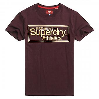 Superdry CL Ath Logo Broderi T-shirt Bourgogne YFY