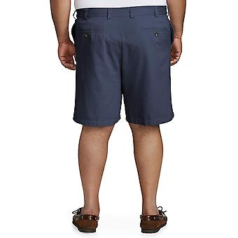 Essentials Men's Big & Tall Flat-Front Short, Navy, 42