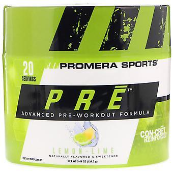 Promera Sports, PRE, Advanced Pre-Workout Formula, Lemon-Lime, 5.44 oz (154.2 g)