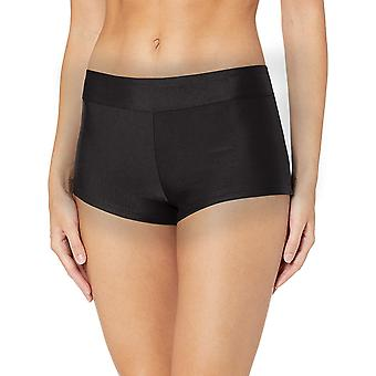 Catalina Women's Boyshort Banded Bikini Swim Bottom Swimsuit, Black, Extra La...