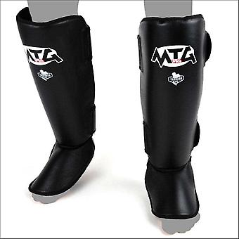 Mtg pro leather shin guards - black