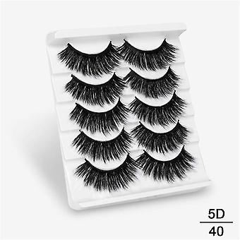 3D Faux Mink Hair False Eyelashes Natural/Thick Long Eye Lashes Wispy Makeup Beauty Extension