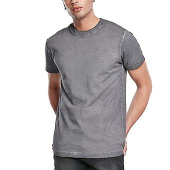 الكلاسيكية الحضرية - GRUNGE الباردة صبغ قميص رمادي الأسفلت