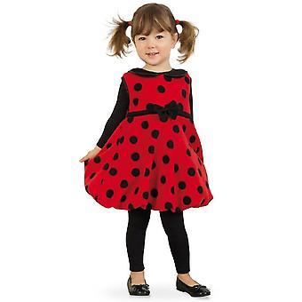 Leppäkerttu mekko lapset puku kuoriainen