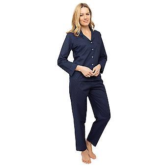 Cyberjammies Nora Rose Scarlett 1441 Kvinnor's Navy Blue Clip Jacquard Pyjama Set