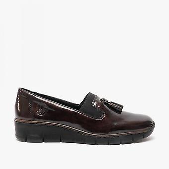 ريكر 53751-35 السيدات تنزلق على الأحذية الحمراء
