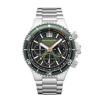 Spinnaker SP-5086-44 Gent's Hydrofoil Green Dial Wristwatch
