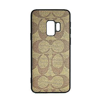 Funda de teléfono Shockproof Cover Monogram GG Para Samsung S9 (Brown)