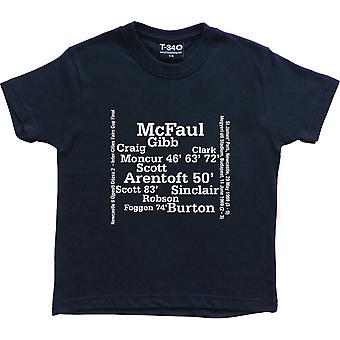 Newcastle United 1969 Inter-Cities Fairs Cup Final Line Up Navy Blue Kids' T-Shirt