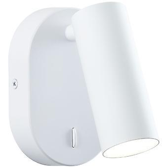 BRILLIANT lamppu Soeren LED seinä piste valkoinen matta   1x 4.5W LED integroitu, (410lm, 4000K)   Skaalaa A++–E   Kytkimellä