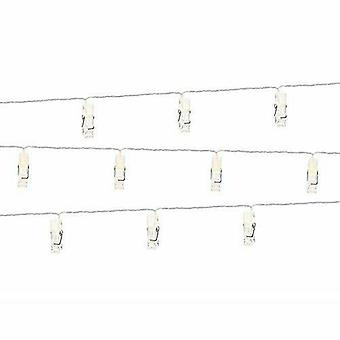 LED Photo Clips Pegs Lights clear 1.4m 10 Pegs Wedding Home Decoration