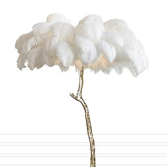 Nordic Ostrich Feather Led Floor Lamp Living Roomstand Light Bedroom Modern Interior Decor