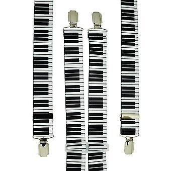 Corbatas Planeta Piano Teclado Hombres's Pantalón Braces