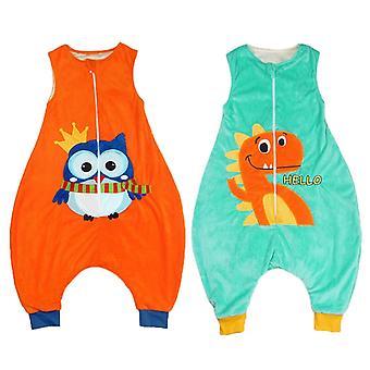 الاطفال الفتيان الفتيات الكرتون jumpsuit بطانية يمكن ارتداؤها