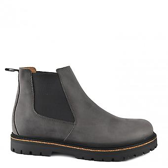 Birkenstock Men's Stalon Nubuck Leather Boots Graphite