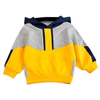 Toddler Infant Baby Hoodie Bluza Dla Dzieci Boys Patchwork Jesień Casual Fashion Sweter Topy Dziecięce Ubrania