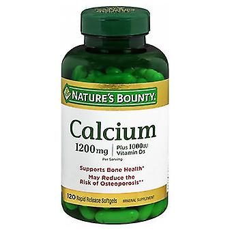 Nature's Bounty Calcium Plus Vitamin D3, 1200 mg, 120 Softgels