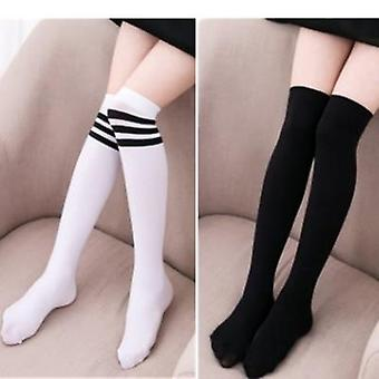 Baby Girls Sports Clothing Long Socks Kids Striped Patchwork Football Baseball Over Knee High Sock