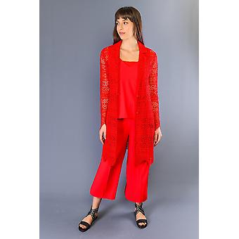 Twinset Rosso Red Crotchet Light Jacket