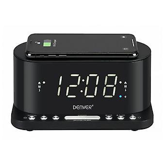 """Klockradio med trådlös laddare CRQ-110 12""""LED USB"""