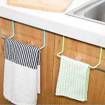 Over Door Tea Towel Holder Rack Bar Hook Bathroom Kitchen Top Home Organization
