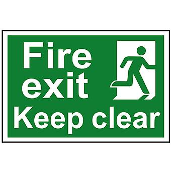 Scan Fire Exit Keep Clear - PVC 300 x 200mm SCA1513