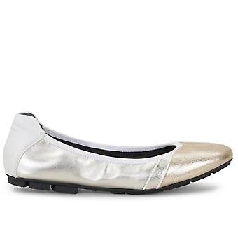 Ballerine Donna Hogan H511 Argento E Oro In Pelle