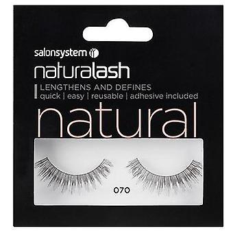 Salon System  Naturalash - Natural - No 070 Reusable Eyelashes - (adhesive Included)